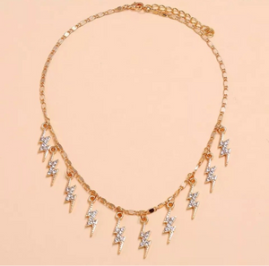 SO STRIKING LIGHTNING RHINESTONE CHOKER