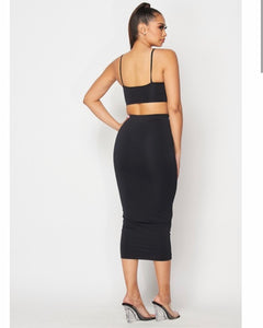 """Maura"" Two-Piece Pencil Skirt Crop Top Set"