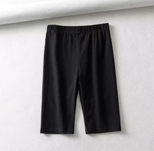 "Load image into Gallery viewer, ""Andy"" Black High Waist Biker Short"