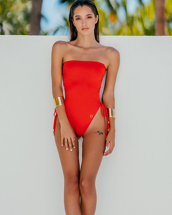MIRNA One-Piece | Mandarin Red