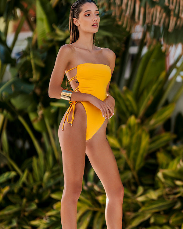 MIRNA One-Piece | Tropical Yellow