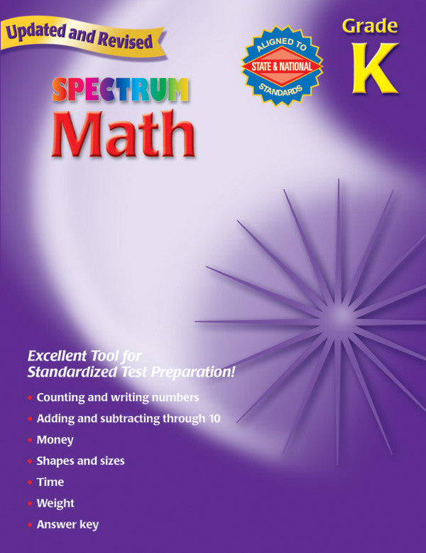 Spectrum Math, Kindergarten - Workbook