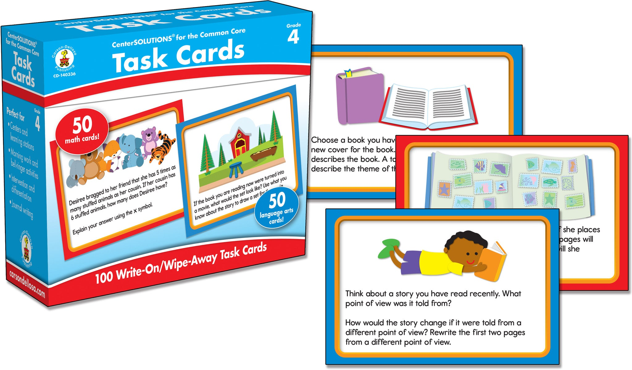 Task Cards Learning Cards /   Grade 4