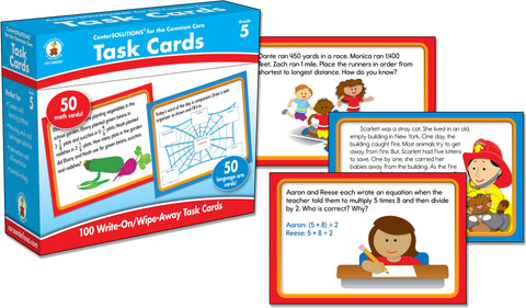 Task Cards Learning Cards /   Grade 5