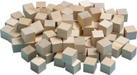 "Plain Wooden 1"" Cubes"
