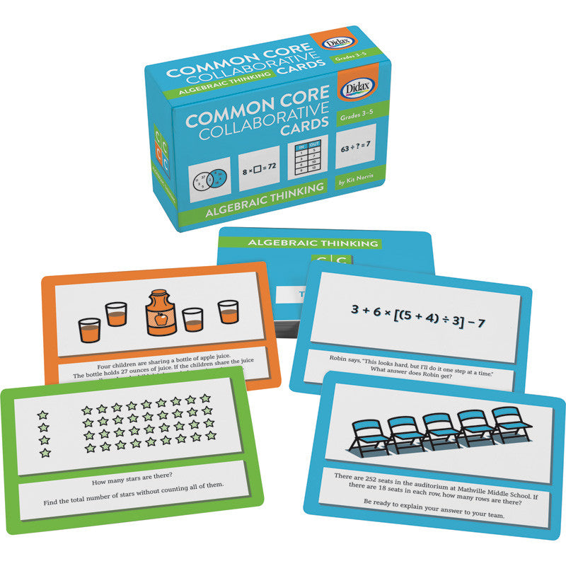 Didax Common Core Collaborative Cards - Algebraic Thinking | Teaching Resource Center