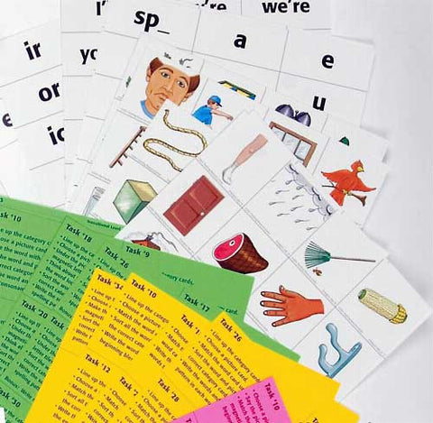 Literacy Task Cards Set 1 - Word Building: All 3 Levels