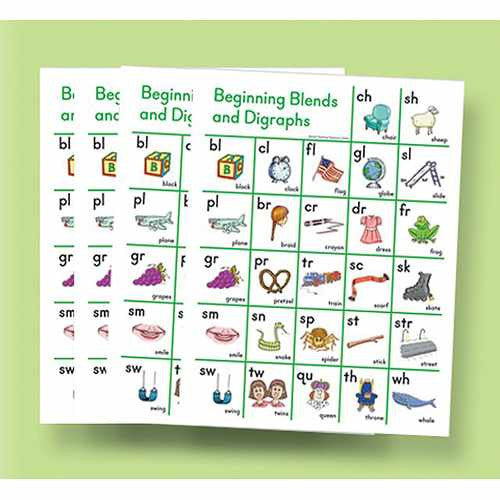 Beginning Blend and Digraph Sound Cards (10-pack)