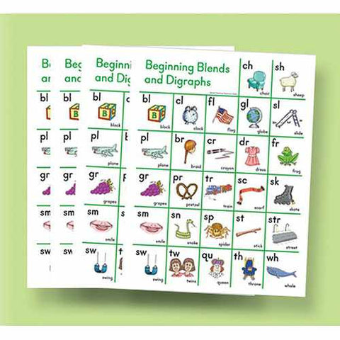 Beginning Blend and Digraph Sound Cards (5-pack)