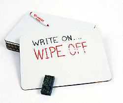 One-sided, Write-On/Wipe-Off Lapboards (set of 10, 6 x 9)