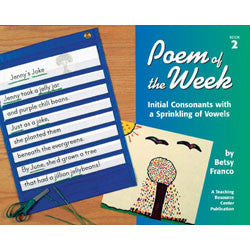Poem of the Week Book 2: Initial Consonants with a Sprinkling of Vowels