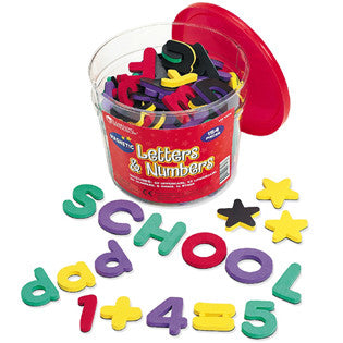Magnetic Foam Letters & Numbers Deluxe Set