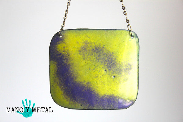 Color Block:: Reversible Enamel Necklace