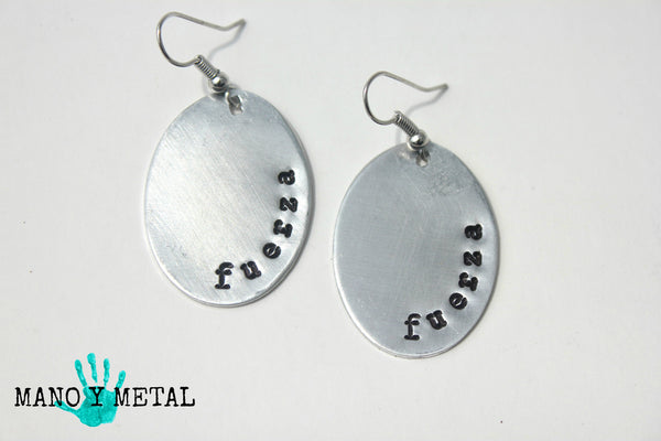 fuerza (strength)::: {Oval Earrings}