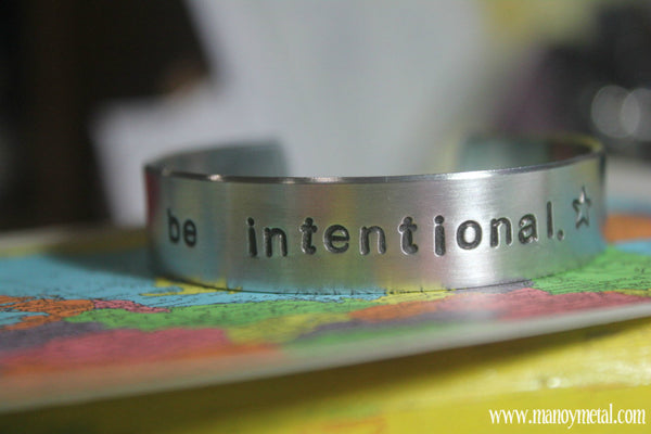 Be Intentional {thin cuff bracelet}