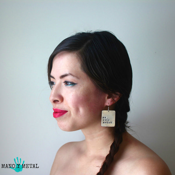 Every day I'm Hustlin'::: {Hand Stamped Earrings}