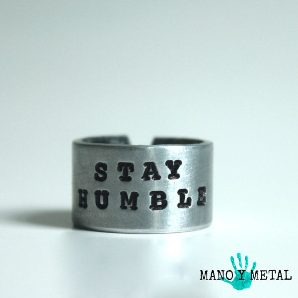 Stay Humble::: {Hand Stamped Ring}