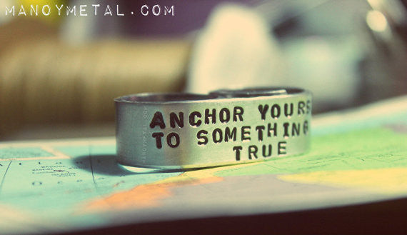 Anchor yourself to something true {Double Finger ring}
