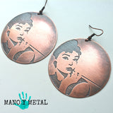 Audrey Hepburn::: {Big o' Copper Earrings}