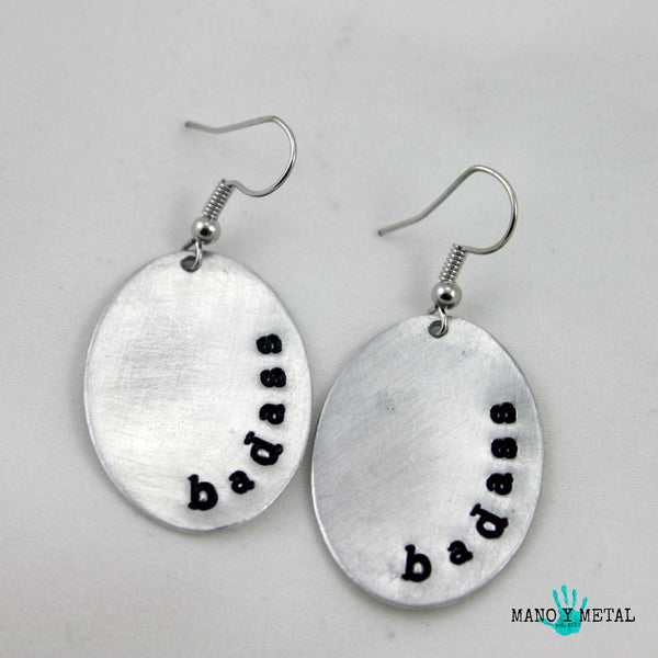 badass::: {Oval Earrings}
