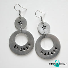 badass::: {circle dangle earrings)