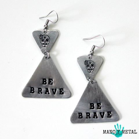 Be Brave::: {triangle dangle earrings}