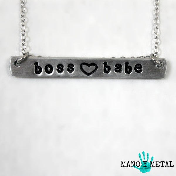 boss babe {bar necklace}