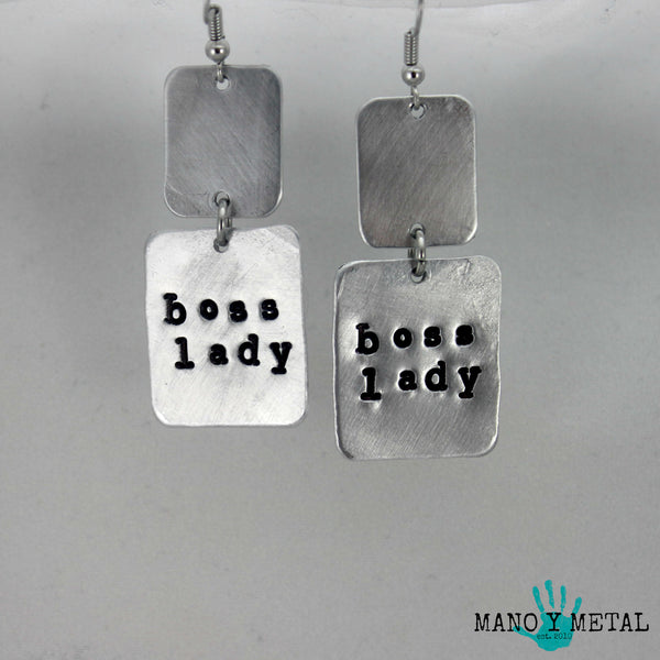 Boss Lady★ {metal earrings}