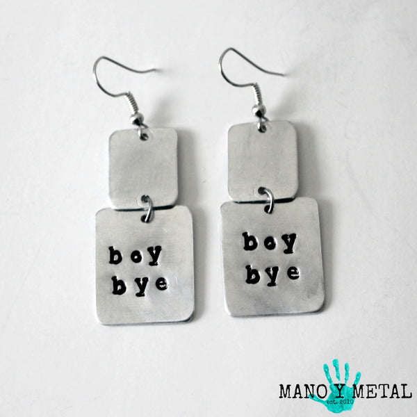 boy bye★ {dangle earrings}