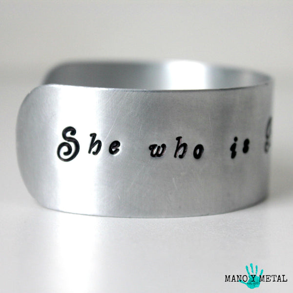 She who is brave is free::: {cuff bracelet}