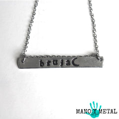 bruja★ {bar necklace}