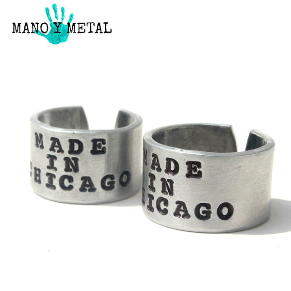 Made in Chicago {Hand Stamped Ring}