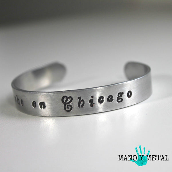 Made in Chicago // Hecho en Chicago::: {thin cuff bracelet}