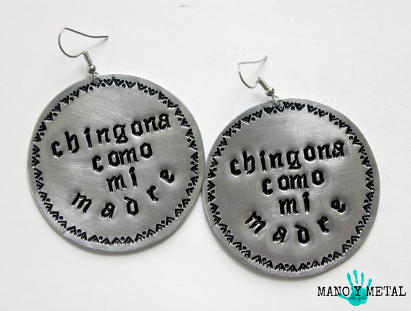 chingona como mi madre★ {Big O' Circle Earrings}