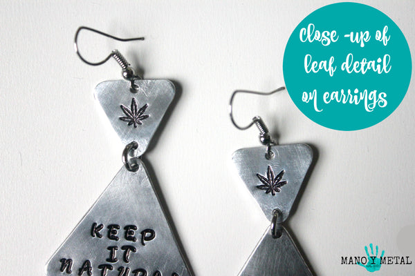 Inhale * Exhale★::: {triangle dangle earrings}