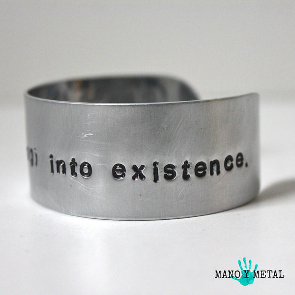 cre·ate: bring (something) into existence. {bracelet}