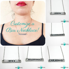 Customize a bar necklace!