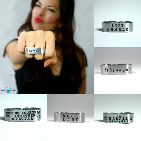 Customize a Double-finger ring:::