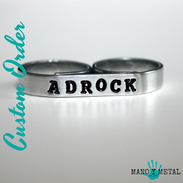 Customize a Bar Double-finger Ring:::