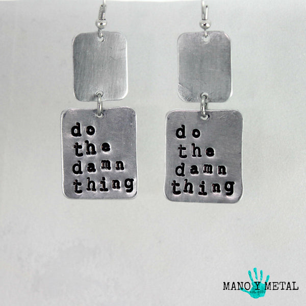 do the damn thing★ {metal earrings}