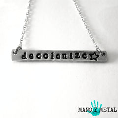 decolonize★ {bar necklace}