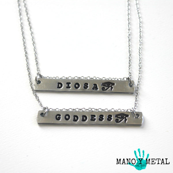 GODDESS {bar necklace}