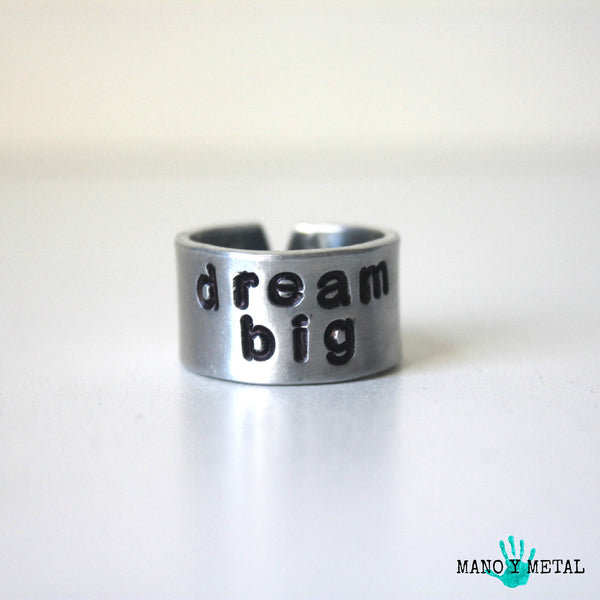 dream big::: {Hand Stamped Ring}