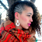 VEGAN POR VIDA::: {circle-triangle dangle earrings)