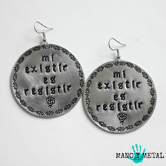 mi existir es resistir★ {Big O' Circle Earrings}