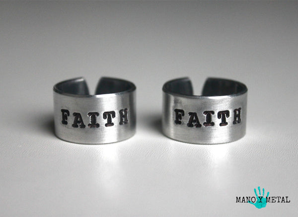 FAITH::: {Hand Stamped Ring}