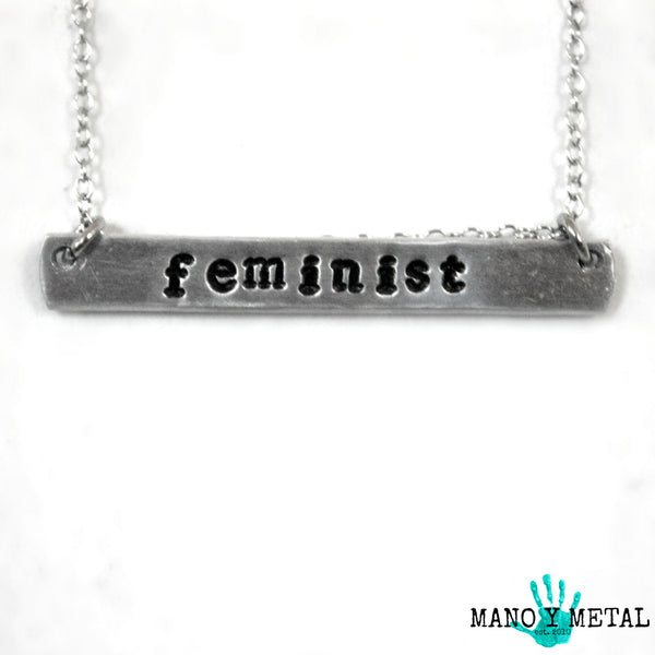 feminist {bar necklace}