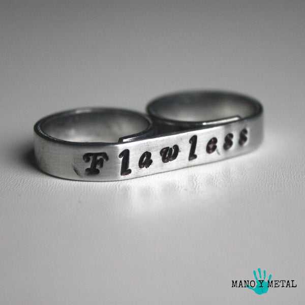 Flawless {bar double ring}