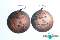 Frida Kahlo Big o' Copper Earrings