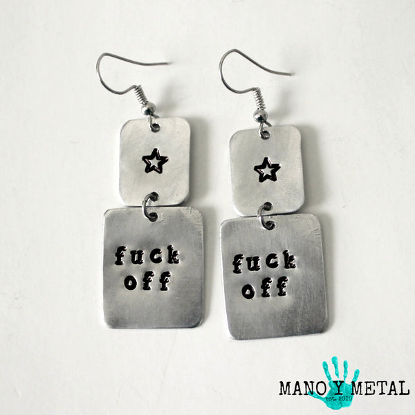 fuck off ★ {dangle earrings}